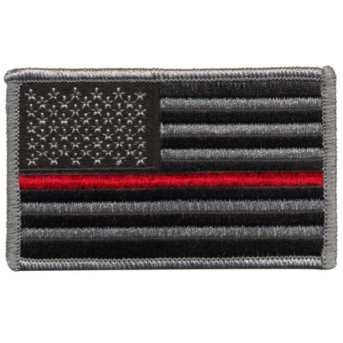 Tactical Thin Red Line US Flag - Forward Facing - Velcro Hook Backing