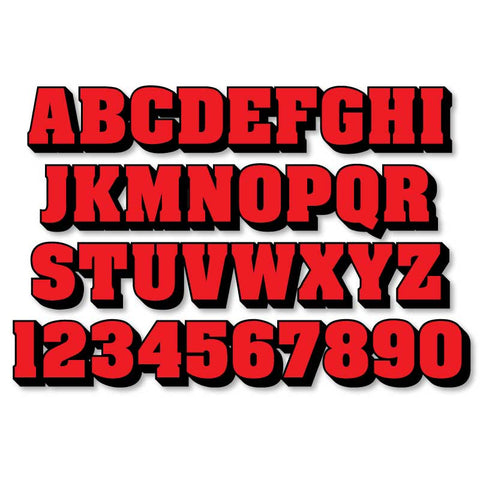 Reflective Letters & Numbers - 2 color 3D Aachen Font