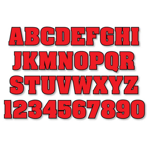 Reflective Letters & Numbers - Outlined Aachen Font