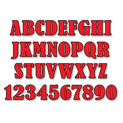 Reflective Letters & Numbers - Outlined Bernard Font