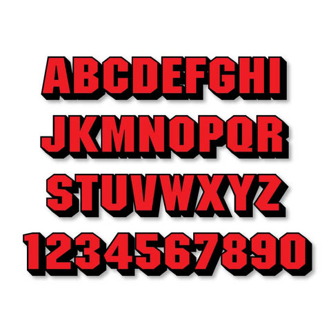 Reflective Letters & Numbers - 2 color 3D Block Font