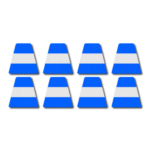 Tetrahedron Set - Blue w/Stripe