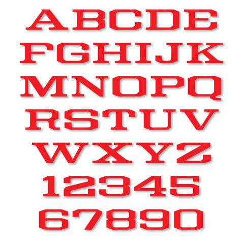 Reflective Letters & Numbers - Outlined Burbank Font