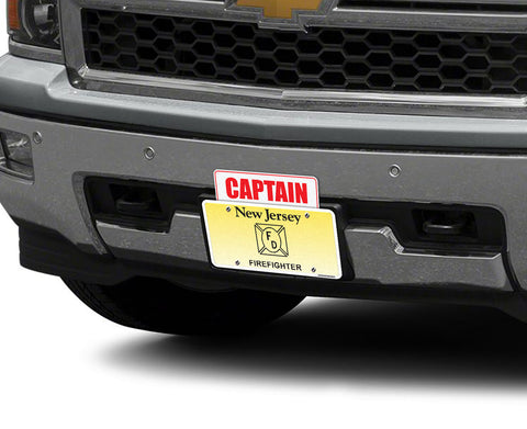 Captain License Plate Topper