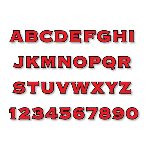 Reflective Letters & Numbers - Outlined Copperplate Font