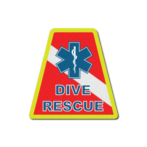 Round Helmet Front Decal - Dive Team