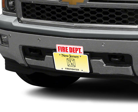 Reflective Fire Dept. License Plate Topper