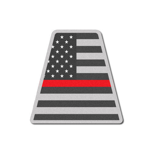 Reflective Tactical USA Flag Thin Red Line Tetrahedron