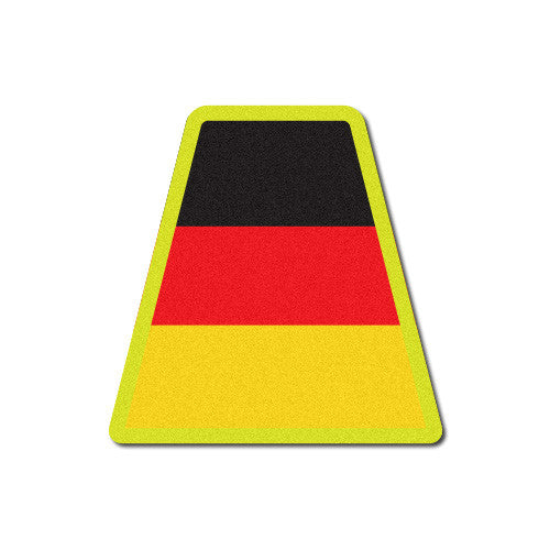 Reflective German Flag Tetrahedron