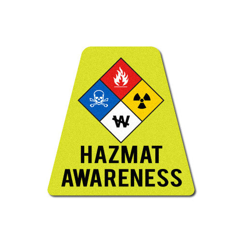 Reflective HAZ-MAT Awareness Tetrahedron