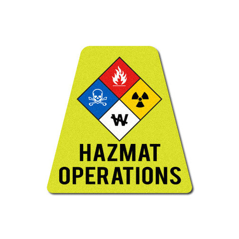 Reflective HAZ-MAT Operations Tetrahedron