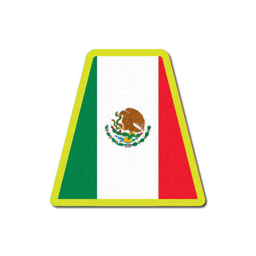 Reflective Mexican Flag Tetrahedron Decal