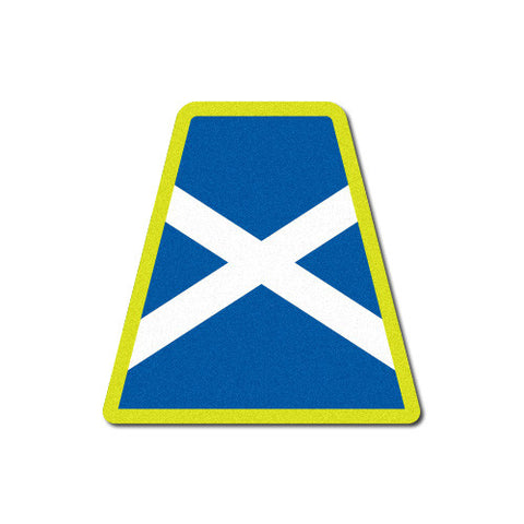 Reflective Scottish Flag Tetrahedron