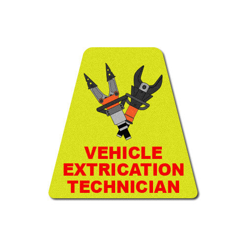 Reflective Vehicle Extrication Technician Tetrahedron