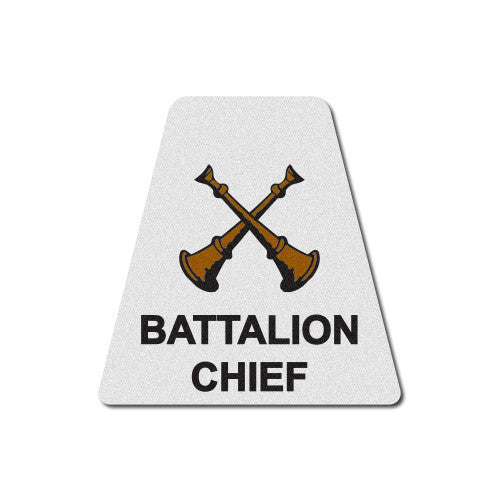 White Battalion Chief Horns Tetrahedron