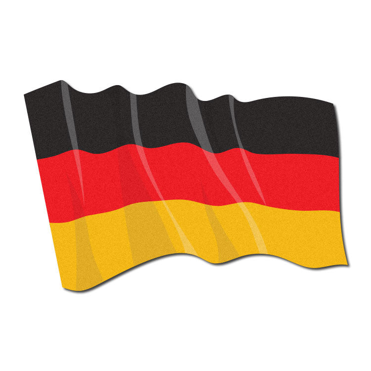 reflective waving german flag the bravest decals