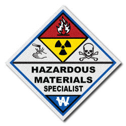 Reflective Haz-Mat Team Triangle Decal
