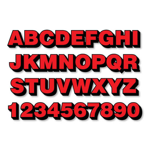 Reflective Letters & Numbers - 2 color 3D Helvetica Font