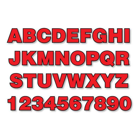 Reflective Letters & Numbers - Outlined Helvetica Font