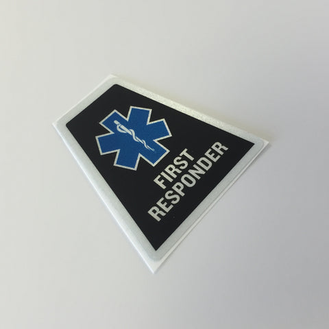 Black Reflective EMS First Responder Tetrahedron