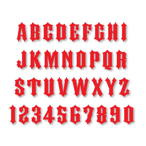 Reflective Letters & Numbers - Solid Ironhorse Font