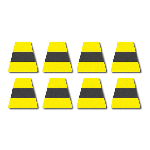 Tetrahedron Set - Lime Yellow w/Black Stripe