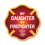 My Daughter is a Firefighter Maltese Cross Decal - 4