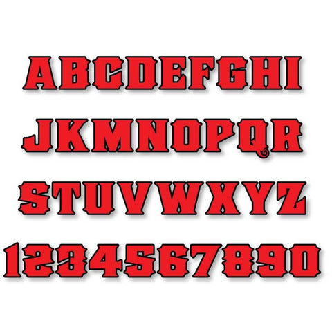 Reflective Letters & Numbers - Outlined Old Stock Font