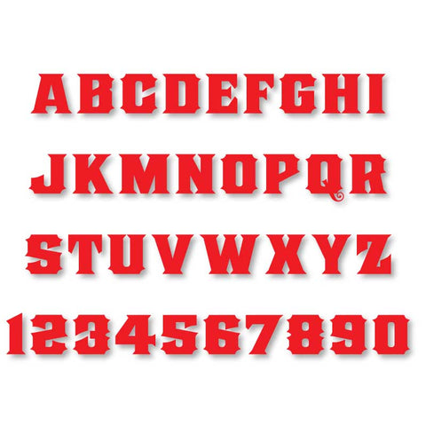 Reflective Letters & Numbers - Solid Old Stock Font