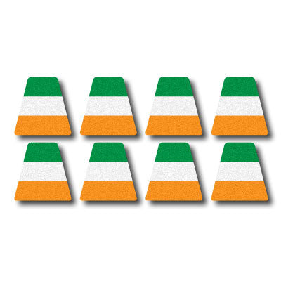 Reflective Irish Flag Tetrahedron Set