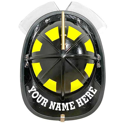 Reflective Curved Helmet Name - Bolt Font