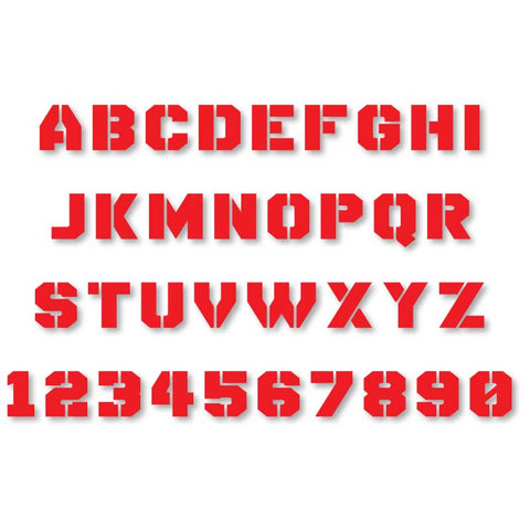 Reflective Letters & Numbers - Solid Stencil Font