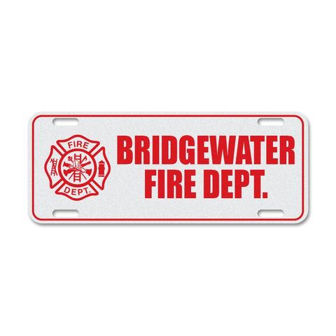 Custom Reflective Fire & EMS License Plate Topper - Left Icon
