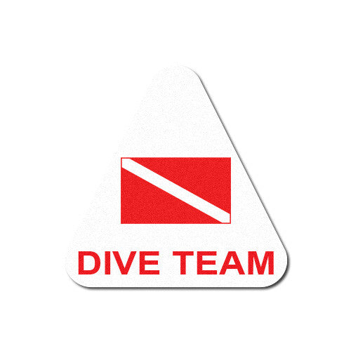 Reflective Dive Team Triangle