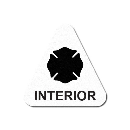 Reflective Interior Firefighter Triangle