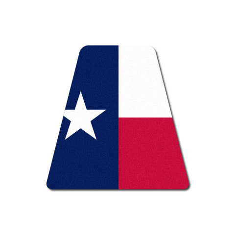 Reflective Texas Flag Tetrahedron