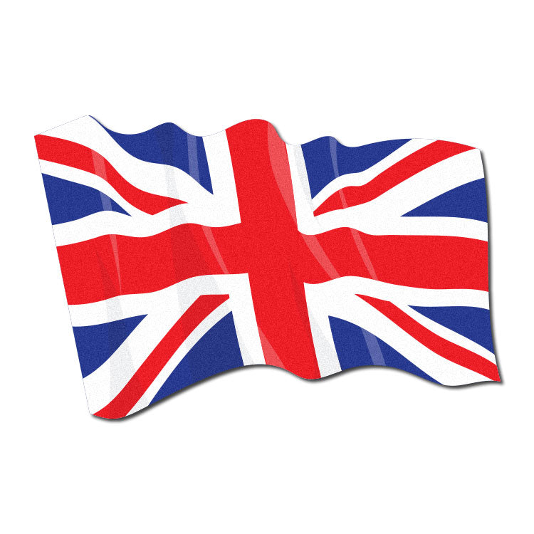 Reflective Waving United Kingdom Flag Decal