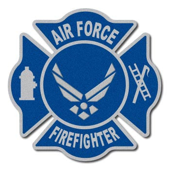 Air Force Firefighter Reflective Decal