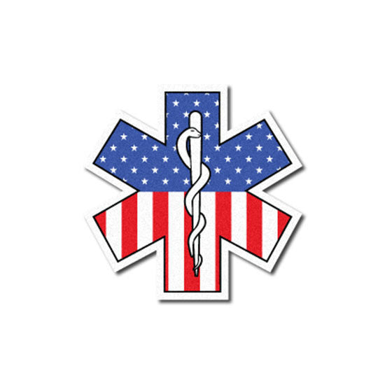 Star of life Reflective Decal - U.S.A. Pattern