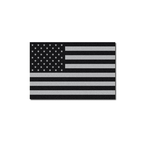 Reflective Tactical Subdued American Flag Decal