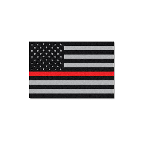 Reflective Subdued Thin Red Line American Flag Decal