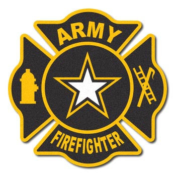 Army Firefighter Reflective Maltese Decal