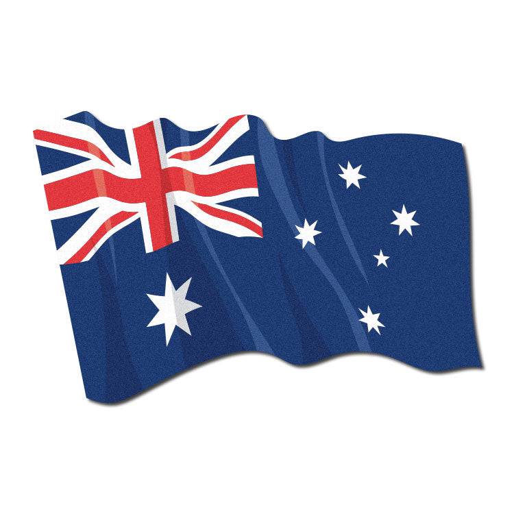 Reflective Waving Australian Flag Decal