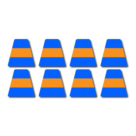 Tetrahedron Set - Blue w/ Orange Stripe