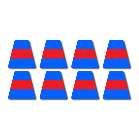 Tetrahedron Set - Blue w/ Red Stripe