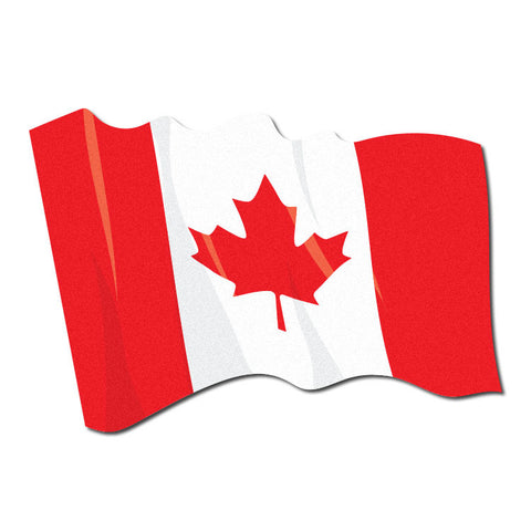 Reflective Waving Canadian Flag Decal