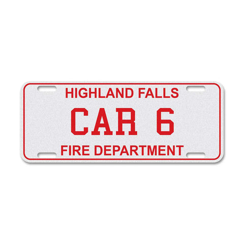 Reflective Fire & EMS License Plate - 3 Text Lines