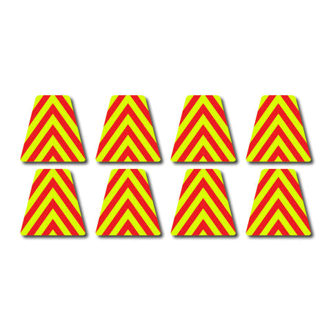 Tetrahedron Set - Red/Yellow Chevrons