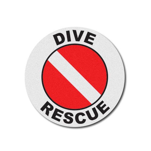 Round Helmet Front Decal - Dive Rescue