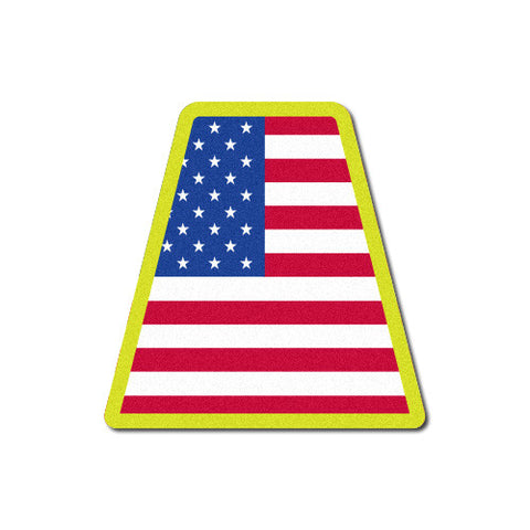 Reflective USA Flag Tetrahedron